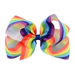 Infant Hair Styles UK - Baby Girls hair pins colorful Ribbon Bow Kids Hairpin Clips Boutique Bows Europe style Children Hair Accessories Infant Barrette C1582