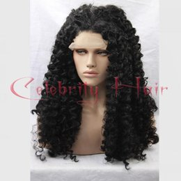 blue synthetic curly hair 2019 - synthetic hair wigs actural kinky curly free part purified water maintian it by synthetic oil anime wig hair wigs for wo