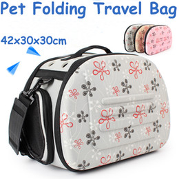 Folding Dog Carrier Canada - 2017 Pet Travel Bag Dog Travel Folding Breathable One Shoulder Out Bags Portable Luggage Backpack Cat Pack Pet Carriers and Bag