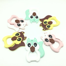 $enCountryForm.capitalKeyWord Canada - 2017 Lot of 10 pcs Squirrel Teething Pendant Teether Necklace BPA Free Baby Chew Toy Animal Squirrel Teether Cartoon Nursing Jewelry Teether