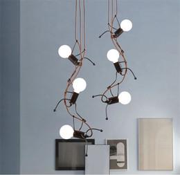 L32 Creative Small Iron Man LED Pendant Lamp Modern Living Room Pendant  Lights Fashion Childrenu0027s Room Decoration Hanging Lamp