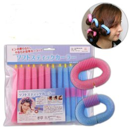Soft Bendy Hair Rollers NZ - New Soft Sponge Hair Curler Roller Hair Bendy Rollers DIY Magic Hair Styling Tool 12pcs lot free shipping
