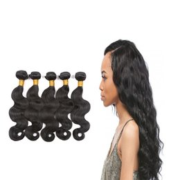 $enCountryForm.capitalKeyWord UK - 7A Brazilian virgin hair body wave natural black unprocessed good hair products cheap brazillian remy human hair weave bundles