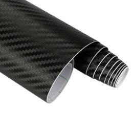 Carbon Fiber Decal Roll UK - 127cmx15cm 3D 3M Auto Carbon Fiber Vinyl Film Carbon Car Wrap Sheet Roll Film Paper Motorcycle Car Stickers Decal Car Styling