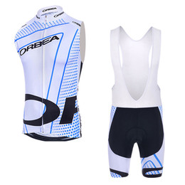orange cycling vest UK - Orbea Summer Cycling sleeveless Jersey mtb Cycling vest Set racing bike wear Outdoor Sports maillot Ropa Ciclismo factory direct sale C3012