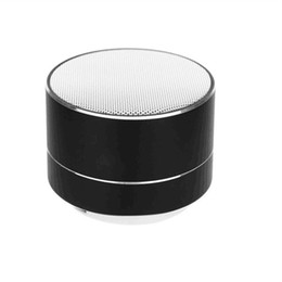 Discount tf speaker hot - Hot Sale A10 Stereo Wireless Bluetooth Speaker Mini Portable Music Player with Metal CaseTF Card Slot Bass Subwoofer 20p