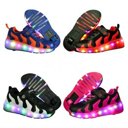 Discount light up shoes for girls - Led luminous flame Shoes For Boys girls Fashion Light Up Casual kids 7 Colors USB charge new simulation sole Glowing chi