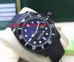 Rubber Coatings NZ - Top Quality Luxury Wristwatch Rubber Bracelet PVD Coating CERAMIC BLACK BLUE Dial #116610 40MM Automatic Movement Men Watches New Arrival