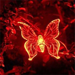 Wholesale LED Solar Power Butterfly Lights cm Plastic Outdoor Waterproof Home RGB Color Lighting Decorations Landscape Garden Lamps Yard from China
