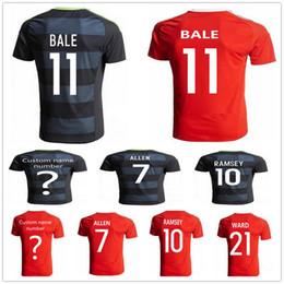 b9526ff6ce7 online shopping Wales Soccer Jersey AARON RAMSEY GARETH BALE ALLEN TAYLOR  WARD ROBSON KANU WILLIAMS Home
