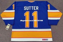 $enCountryForm.capitalKeyWord Australia - custom Mens BRIAN SUTTER St. Louis Blues 1987 CCM Vintage Cheap Retro Hockey Jersey