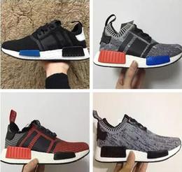 34276a413ae 2016 NMD Runner R1 Primeknit OG Black Triple White Nice Kicks Circa Knit Men  Women Running Shoes Sneakers Originals Classic Casual Shoes