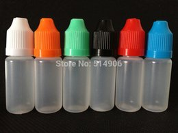 bottles eye drop NZ - Wholesale- 10ml LDPE Soft Plastic Dropper Bottles, 10ml Eye Drop Bottles With Childproof Cap and Short Coarse Tip for E juice, 100pcs lot