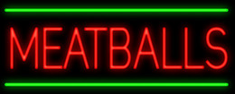 "$enCountryForm.capitalKeyWord Canada - Meatballs Calzones Neon Sign Custom Handmade Real Glass Tube Restaurant Store Motel Road Stand Advertising Display Neon Signs 17""X8"""