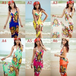 Enveloppes Pour Maillots De Bain Pas Cher-Fashion Summer Sexy Swimwear Open-Back Wrap Front Cover Up Robe Beach Robe Beach Saia Bikini # GD20150605