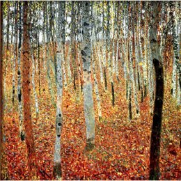 $enCountryForm.capitalKeyWord NZ - High quality Gustav Klimt artwork Reproduction Forest of Beech Trees oil painting canvas Handmade Wall decor