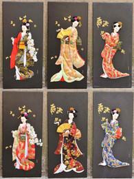Großhandel Verschiedene Stile Geisha Puppe druckt japanische Ukiyo-e Gemälde Stereo Bilderrahmen Hauptlieferung dekorative Malerei Figur Malerei