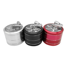 tobacco grinder aluminum Australia - Hot sale Aluminum Alloy Hand Crank Herb Spice Crusher Muller Mill Tobacco Grinder filter grinders for using expediently