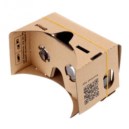 Chinese  Wholesale- DIY Google Virtual Reality Box VR Cardboard Mobile Phone 3D Viewing Glasses for 5 inch Screen manufacturers