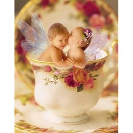 $enCountryForm.capitalKeyWord Canada - DIY Diamond Painting Embroidery 5D Cup Little Angel Pattern Cross Stitch Crystal Square Unfinish Home Bedroom Wall Art Decor Craft Gift