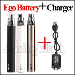 Discount vaporizer pen usb charger - eGo T Battery With USB Charger 650mAh 900mAh 1100mAh E Cigarette 510 Thread Vape Pen Battery Vaporizer And Long USB Cabl