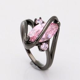discount pink black wedding ring set wholesale 2016 top quality black ring for women wedding - Pink And Black Wedding Ring Set