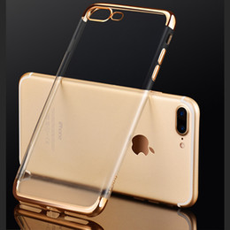 Crystal Clear Phone Cases NZ - Ultra Thin Clear Crystal Plating Electroplating Limpid Cell Phone Back Case TPU Soft Mobile Phone Cover Skin For Iphone 6 6s 7 Plus 5 5s