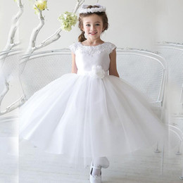 $enCountryForm.capitalKeyWord Canada - Brand New Flower Girl Dresses with Flower Sashes Party Pageant Communion Dress for Wedding Little Girls Kids Children Dress