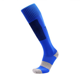 Red Football Team NZ - Hot Sale Mens Non-slip Thicken Towel Bottom Long Hose Sports sock Breathable Anti-friction Stockings Football team Soccer cotton Socks