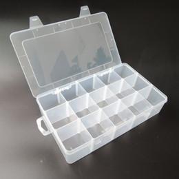 En gros-Transparent PP Boîte à Outils Électronique En Plastique Pièces Boîte à Outils Casier SMD SMT Conteneur Vis Batterie Composant De Stockage Cas en Solde