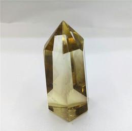 punto di cristalli di citrino reiki fatti a mano Bacchetta di cristallo di quarzo citrino naturale POINT per regalo GUARIGIONE 40g in Offerta