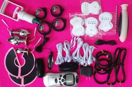 $enCountryForm.capitalKeyWord NZ - 2017 BDSM Electric Shock Sex Toys Kit Bondage Torture Anal Plug Ear Clips Socks Gloves Penis Ring Sticky Pads Breast Massager for Couples