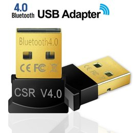 Wholesale Mini USB Bluetooth Adapter V4.0 + EDR USB Dongle CSR8510 Wireless USB Transmitter Music Receiver Adapter for Computer PC