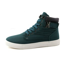$enCountryForm.capitalKeyWord Canada - Fashion Autumn Winter Faux Suede Boots For Man Casual High Top Canvas Men Flat Men Casual Shoes Sell at a low price