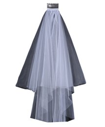 $enCountryForm.capitalKeyWord UK - Two Layers Tulle Short Bridal Veils 2017 Hot Sale Cheap Wedding Bridal Accessory For wedding Dresses Cheap Wedding Net In Stock