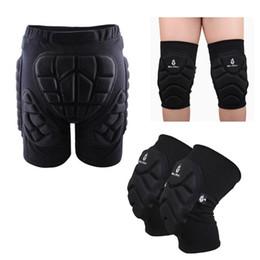 Лыжный защитный коврик для бедер Мягкие шорты + защитные коленные прокладки Катание на лыжах Катание на сноуборде Защита от удара