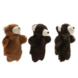 kids hand puppets UK - Lovely Animal Plush Hand Puppets Childhood Soft Toy Bear Shape Story Pretend Baby Kids Developmental Plush Doll Toy Puppets