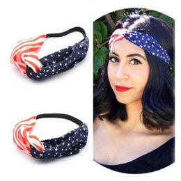 $enCountryForm.capitalKeyWord Canada - New American Flag Turban Headband USA Headbands Headwrap Fashion Elastic Hair Bands Bandana Turban Hair Band Hair Accessories