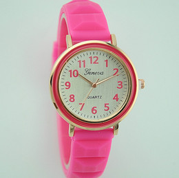 Discount geneva stainless steel rhinestone - Fashion Candy Cute Student Geneva Watch Rubber Candy Jelly Women Men Silicone Rhinestone Sport Quartz Watches