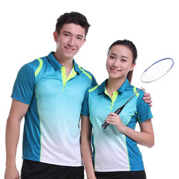 Polo Sportswear Australia - Sportswear Quick Dry Breathable Badminton Shirt Women Men Table Tennis Clothes Team Game Training Short Sleeve POLO T Shirts