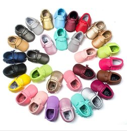 Infant wInter bootIes online shopping - 16 Colors Baby kids shoes Moccasins Soft Sole PU Leather first walkers prewalker booties toddler Girls shoes infant Newborn kids sneakers