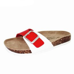 Wholesale Fashion Summer Cork Slipper Sandals Women Casual Beach Mixed Color Flip Flops Slides Shoe Flat Free Shipping