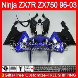 1999 Kawasaki Zx7r NZ - 8Gifts 23Colors For KAWASAKI NINJA ZX7R 96 97 98 99 00 01 02 03 18HM8 TOP blue black ZX750 ZX 7R ZX-7R 1996 1997 1998 1999 2000 2003 Fairing