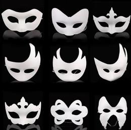 $enCountryForm.capitalKeyWord NZ - Blank White Masquerade mask Kids Adults Mardi Gras Christmas Halloween midnight costume DIY Half Full Face Masks Animal cartoon Mask