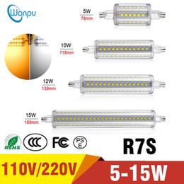 Led buLbs for fLoodLights online shopping - Led Bulb New R7S Bulb V V W W W W Bombillas SMD2835 led light For Lawn Floodlight