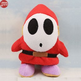 world games Canada - New Super Mario Bros 3D World Shy Guy Stuffed Plush Doll Kid Toy With Tag Sucker 17cm Christmas Gift