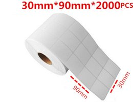 White blank sticker paper online shopping - 3 cm cm cm strong adhesive blank coated paper sticker white roll package office printed barcode sticker