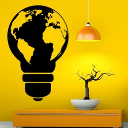 Discount black light world 2018 black light world on sale at design light bulb wall vinyl decal sticker world map art wall stickers for rooms decor wedding gift inexpensive black light world gumiabroncs Image collections