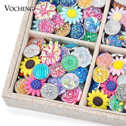Wholesale Noosa Mix Sales 50pcs 100pcs 200pcs 500pcs Random Choice 18mm Arcylic Snap Button Clearance Sale Accessories Vocheng Vn-721