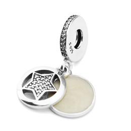 Make Friendship Charm Bracelets Canada - Dangle Beads for Jewelry Making Authentic 925 Sterling Silver Friendship Star Enamel & Crystal Charms Jewellery Fits Women Diy Bracelets
